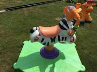 Fisher Price Bounce 'N' Spin Zebra