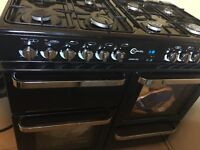 Flavell range dual fuel cooker in black