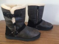 Black UGG Boots size 4.5, only used once