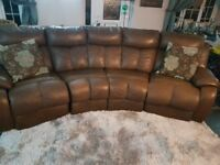 Dfs leather electric reclining sofa