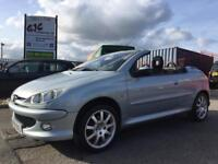 2006 PEUGEOT 206CC 1.6 **CONVERTIBLE** 1 KEEPER **SERVICE HISTORY** WITH MOT READY TO DRIVE AWAY!