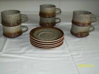 6 Purbeck Tea Cups and 5 Saucer
