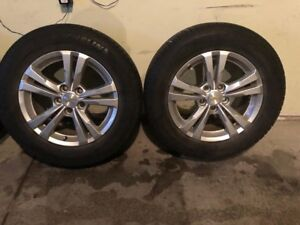 Set of 4 rims and tires (Michelin all seasons)