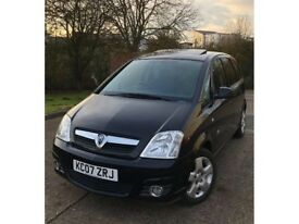 Vauxhall Meriva 1.6 16V Black Petrol Manual 5dr