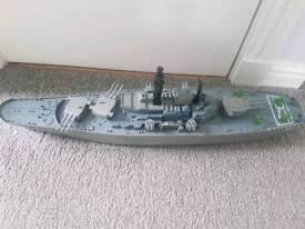 Big toy battleship boat