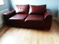 Red Leather Sofabed