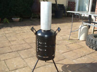 log burner made out of gas bottle