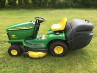 John Deere ride on lawn mower