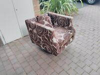 Swivel Brown Armchair - from a pet free home