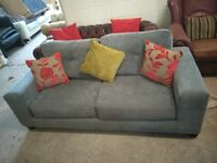 Lovely Grey Fabric sofa settee couch VGC Delivery Poss
