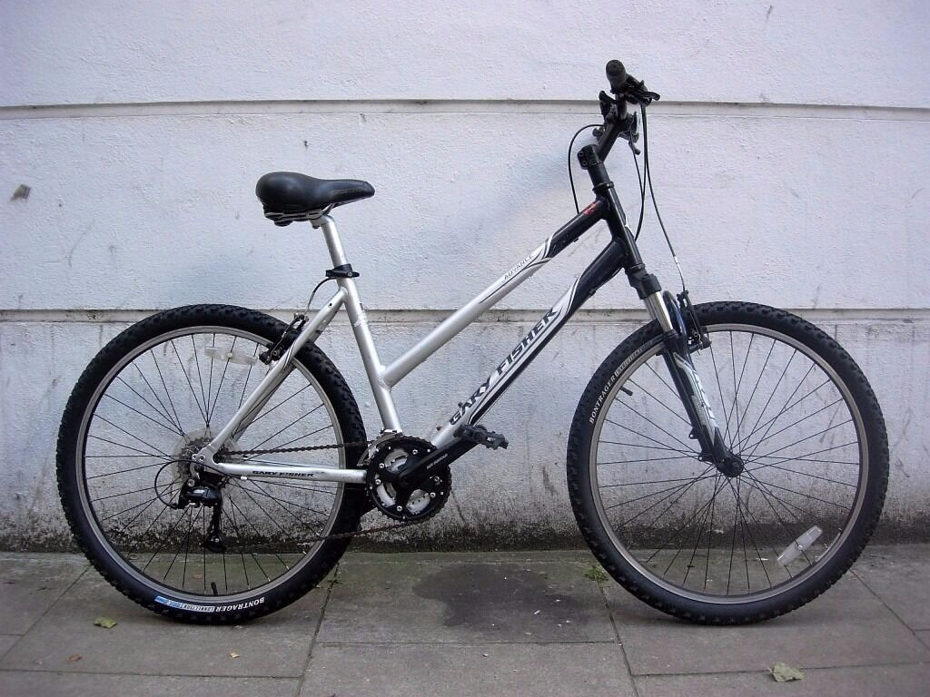 Quality Ladies Mountain/ Commuter Bike by Gary Fisher, Black & Silver, JUST SERVICED/ CHEAP PRICE!!!