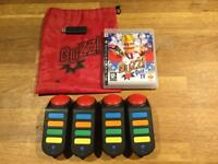 PS3 Buzz controllers and Buzz Quiz TV game