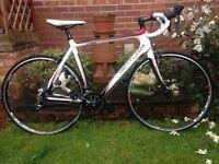 New Ventura cp50 carbon lite road bike,54cm full carbon frame,700c r500 wheels,Sora gears/brakes