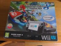 Nintendo Wii u 32gb with box and 3 games