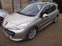 2008 Peugeot 207 SW Sport Estate 1.6 Petrol Grey 5 Door Low Miles 12 Months MOT Warranty Available