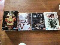 Saw complete movie dvds job lot