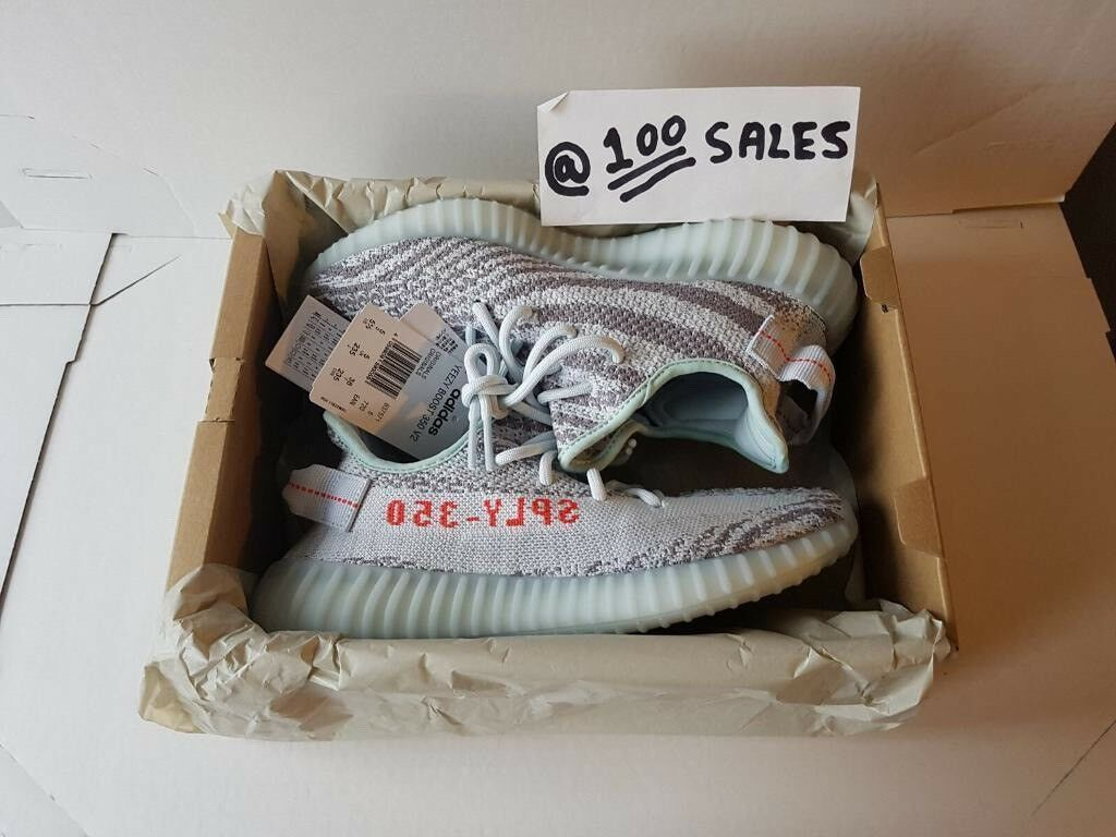 145c33d822e ADIDAS x Kanye West Yeezy Boost 350 V2 BLUE TINT 16.12.17 With Original  Receipt 100sales