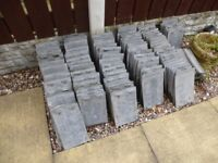 """132x used but great condition Marley sand-faced 10.5"""" x 6.5"""" roof tiles"""