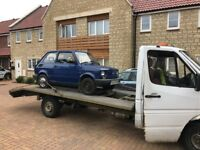 Car Recovery collection and delivered service UK