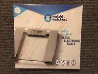 Weight Watchers Ultra Slim Glass Electronic Bathroom Scale