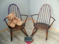Stunning Pair of Ercol Quaker Rocking Chairs