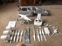 DJI phantom 4 Pro drone with 3 batteries and a 64gb sd chip and all originals accessories