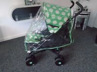 Ladybird lie flat umberella buggy with footmuff & new raincover