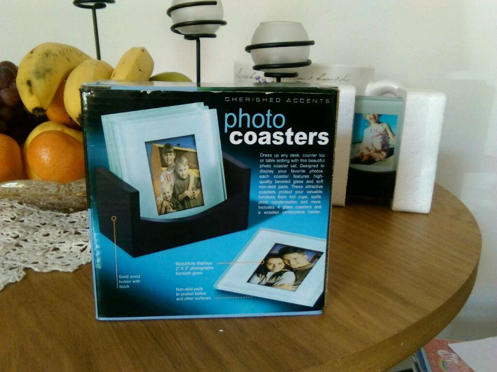 4 Photo Coasters in glass