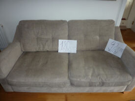 3-seater safa, brown-grey, excellent condition