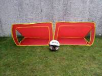 Pop up football goals