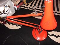 vintage anglepoise lamp blood red
