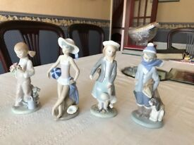 Four seasons lladro figurines