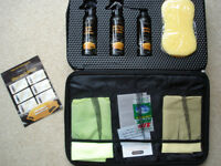 "Car Cleaning Valeting Kit in case. Cleaners Cloths Sponge etc. SMARTGUARD ""Aftercare Collection"""