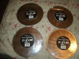 Mirror candle Plates