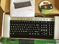 VisiKey KEYBOARD LARGER LETTERING THAN STANDARD KEYBOARD NEW BOXED UK WIRED