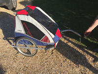 Bike trailer for young kids to travel in (2-seater)