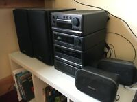 Technics CH900 Hifi system, amp, tuner, dual cassette cd, 2 main 2 surround speakers, remote