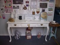 SHABBY CHIC FURNITURE CONSOLE TABLE /DRESSING TABLE