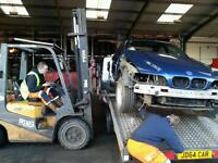 Upto £200 for your BMW scrap breaking damaged parts wheels removal metal waste complete cars rolling