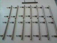 Kitchen Cupboard Chrome Handles x 15
