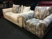 New/Ex Display Dfs Cord 3 Seater Sofa + 1 Seater Chair