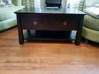 Vintage Retro Style Oriental Style Coffee Table TV Stand Unit 2 Drawer Chest The Pier Console
