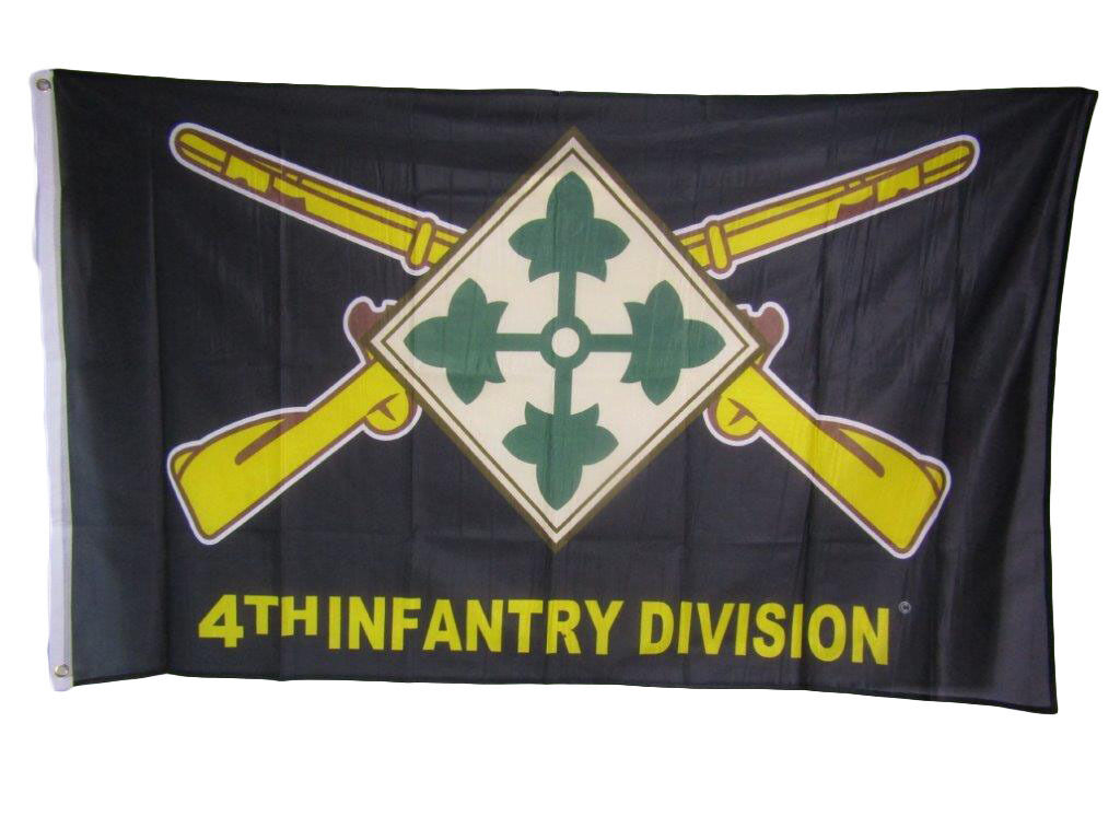 3x5 Army 4th Infantry Division Ivy Knitted Nylon Premium Fla