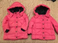JoJo Maman Bebe Girls Quilted Coat