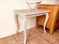 "Shabby Chic Hall / Side Table, painted in Little Green ""Rolling Fog"""