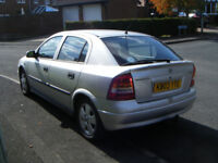 Vauxhall astra 1.6 elegance 5 door hatchback, 03 reg, silver,12 mths mot,excel runner,drives great