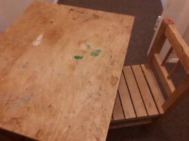 Children's Ikea table and chair