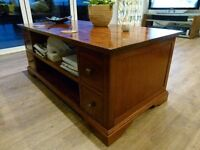 Matching suite of coffee table, sideboard and side tables.