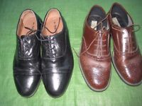 Two Pairs of leather Shoes for £10.00 - One brown, One Black - Both Size 7