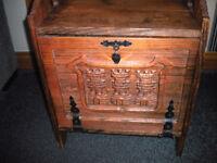Vintage Wooden Wine Cabinet